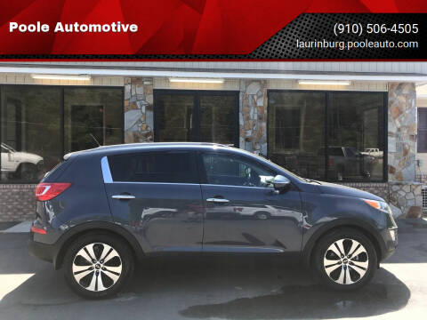 2013 Kia Sportage for sale at Poole Automotive in Laurinburg NC