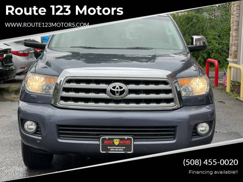 2008 Toyota Sequoia for sale at Route 123 Motors in Norton MA