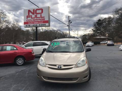 2007 Toyota Sienna for sale at No Full Coverage Auto Sales in Austell GA