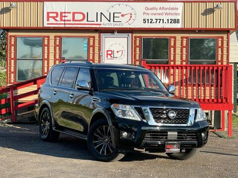 2017 Nissan Armada for sale at REDLINE AUTO SALES LLC in Cedar Creek TX