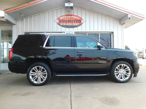 2015 Chevrolet Tahoe for sale at Motorsports Unlimited in McAlester OK