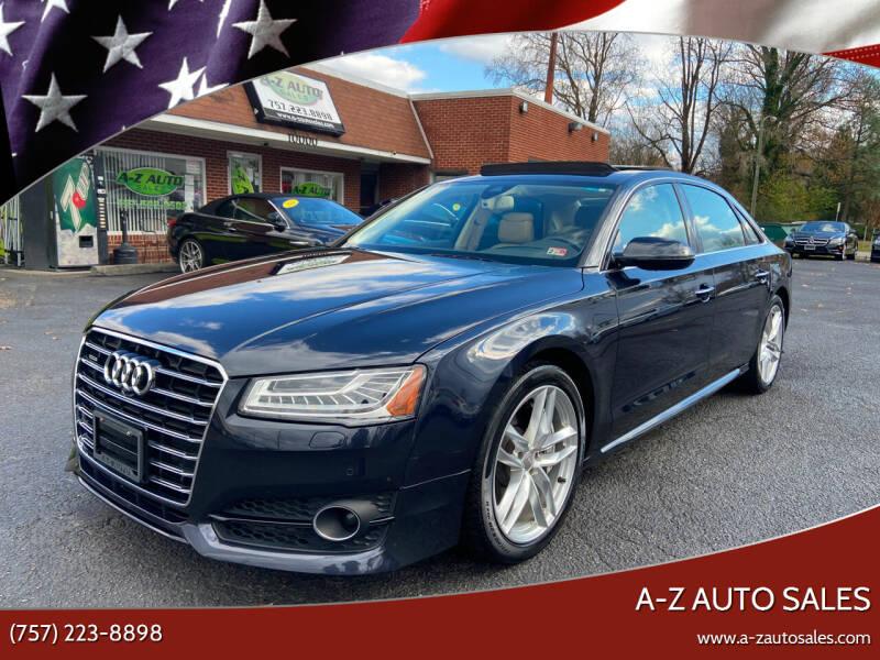 2016 Audi A8 L for sale at A-Z Auto Sales in Newport News VA