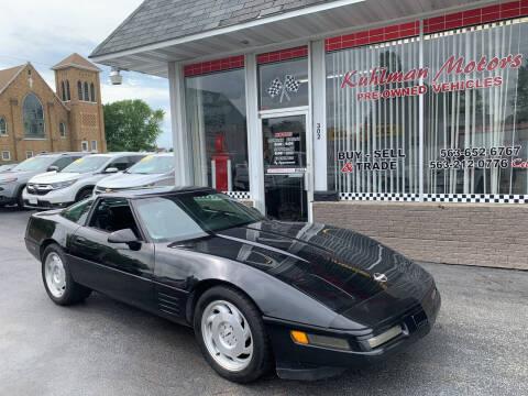 1992 Chevrolet Corvette for sale at KUHLMAN MOTORS in Maquoketa IA