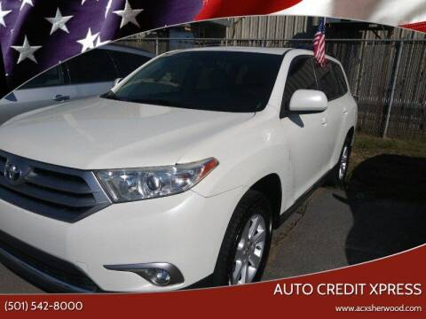 2012 Toyota Highlander for sale at Auto Credit Xpress - Sherwood in Sherwood AR