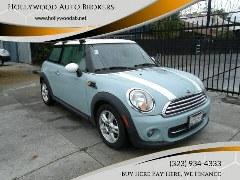 2013 MINI Hardtop for sale at Hollywood Auto Brokers in Los Angeles CA