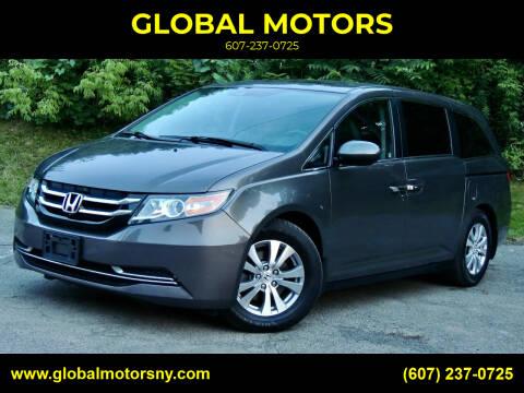 2016 Honda Odyssey for sale at GLOBAL MOTORS in Binghamton NY