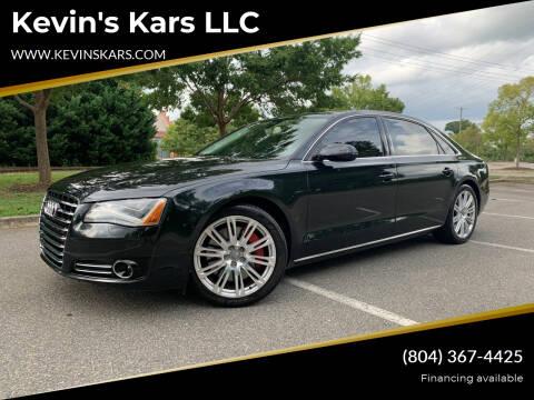 2012 Audi A8 L for sale at Kevin's Kars LLC in Richmond VA