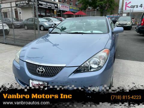 2006 Toyota Camry Solara for sale at Vanbro Motors Inc in Staten Island NY