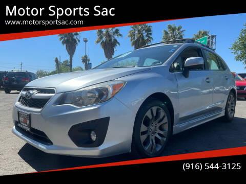 2014 Subaru Impreza for sale at Motor Sports Sac in Sacramento CA