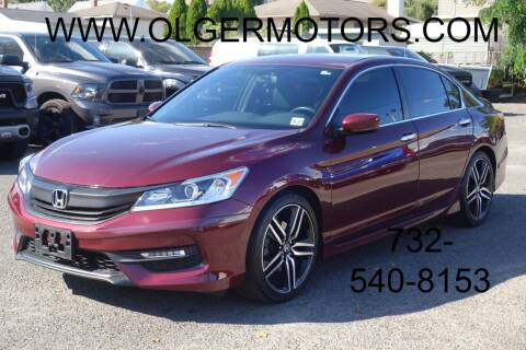 2016 Honda Accord for sale at Olger Motors, Inc. in Woodbridge NJ