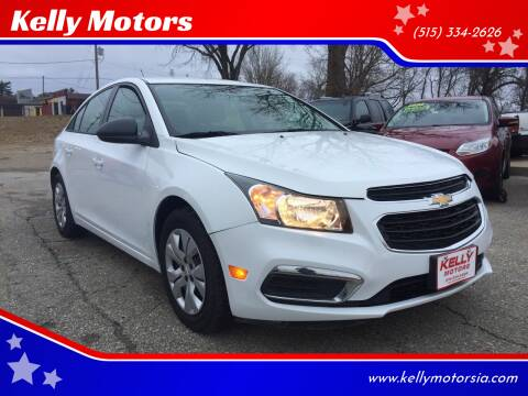 2016 Chevrolet Cruze Limited for sale at Kelly Motors in Johnston IA