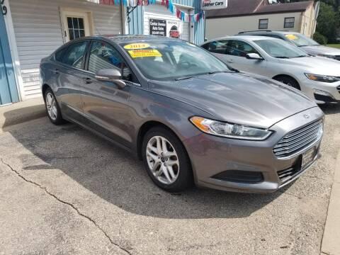 2014 Ford Fusion for sale at CENTER AVENUE AUTO SALES in Brodhead WI