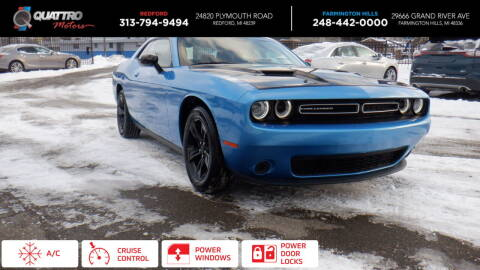 2019 Dodge Challenger for sale at Quattro Motors 2 - 1 in Redford MI