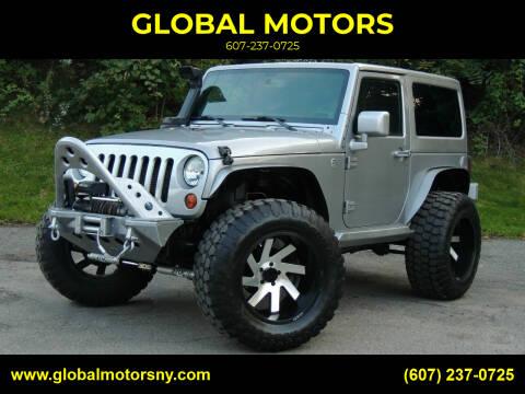 2013 Jeep Wrangler for sale at GLOBAL MOTORS in Binghamton NY