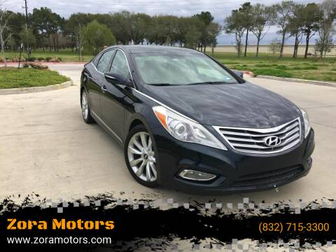 2013 Hyundai Azera for sale at Zora Motors in Houston TX