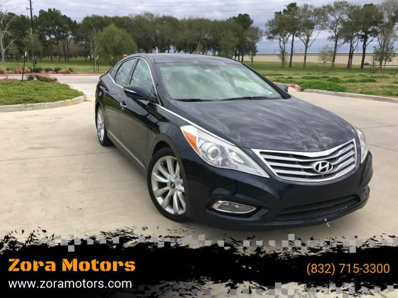 2013 Hyundai Azera for sale at Zora Motors in Houston TX