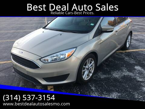 2015 Ford Focus for sale at Best Deal Auto Sales in Saint Charles MO