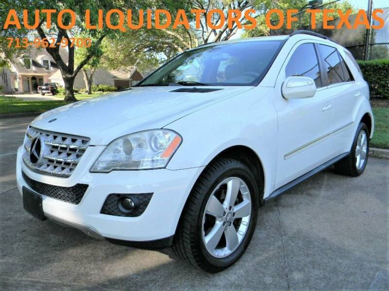 2010 Mercedes-Benz M-Class for sale at AUTO LIQUIDATORS OF TEXAS in Richmond TX