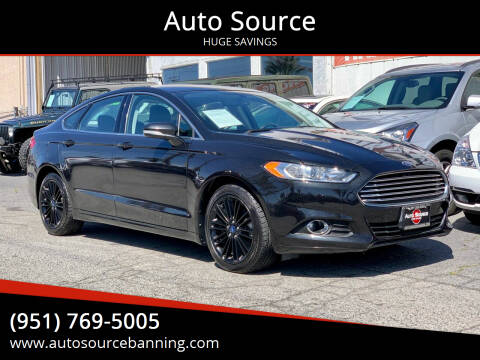 2014 Ford Fusion for sale at Auto Source in Banning CA