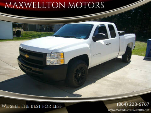 2010 Chevrolet Silverado 1500 for sale at MAXWELLTON MOTORS in Greenwood SC
