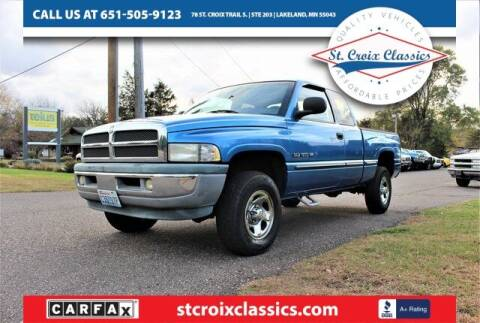 1999 Dodge Ram Pickup 1500 for sale at St. Croix Classics in Lakeland MN