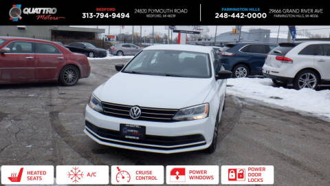 2015 Volkswagen Jetta for sale at Quattro Motors 2 - 1 in Redford MI