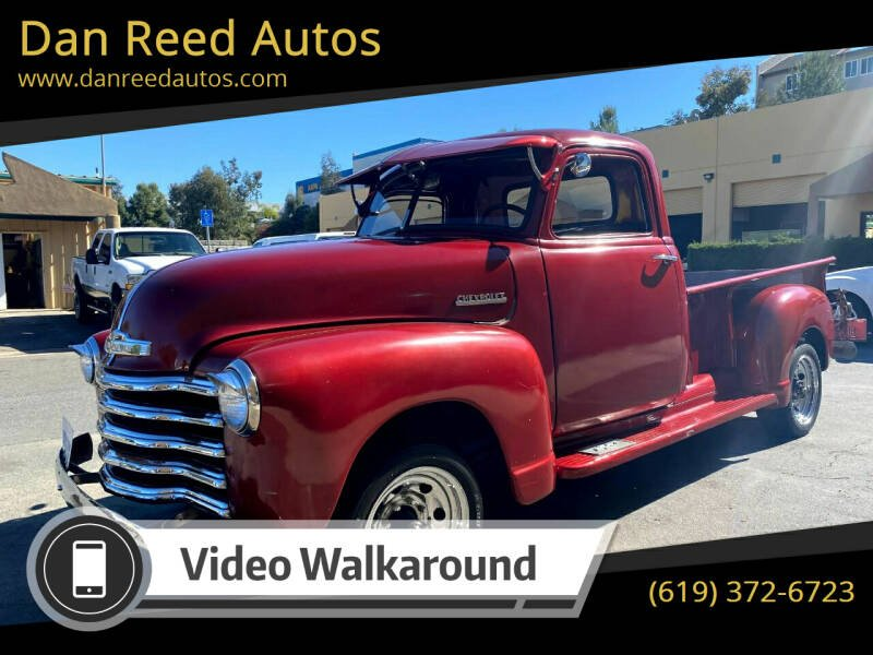 1947 Chevrolet 3600 for sale at Dan Reed Autos in Escondido CA