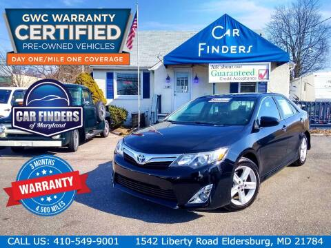 2014 Toyota Camry for sale at CAR FINDERS OF MARYLAND LLC - Certified Cars in Eldersburg MD
