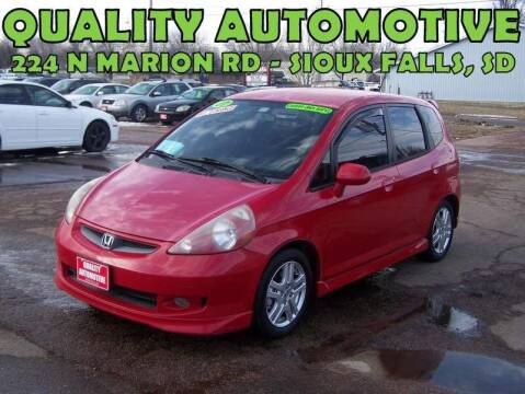 2007 Honda Fit for sale at Quality Automotive in Sioux Falls SD