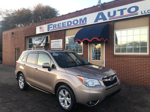2015 Subaru Forester for sale at FREEDOM AUTO LLC in Wilkesboro NC