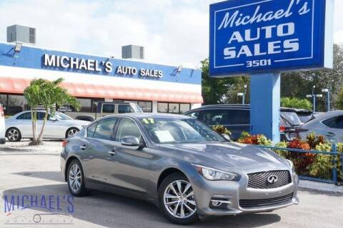 2017 Infiniti Q50 for sale at Michael's Auto Sales Corp in Hollywood FL