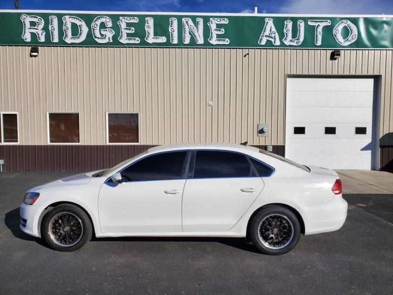 2012 Volkswagen Passat for sale at RIDGELINE AUTO in Chubbuck ID