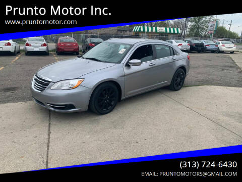 2014 Chrysler 200 for sale at Prunto Motor Inc. in Dearborn MI