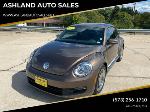2012 Volkswagen Beetle for sale at ASHLAND AUTO SALES in Columbia MO