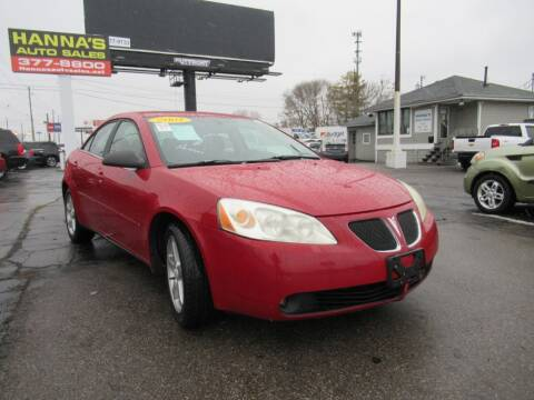 2007 Pontiac G6 for sale at Hanna's Auto Sales in Indianapolis IN