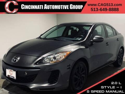 2012 Mazda MAZDA3 for sale at Cincinnati Automotive Group in Lebanon OH
