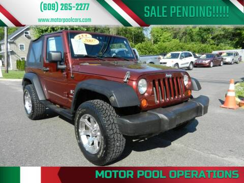 2007 Jeep Wrangler for sale at Motor Pool Operations in Hainesport NJ