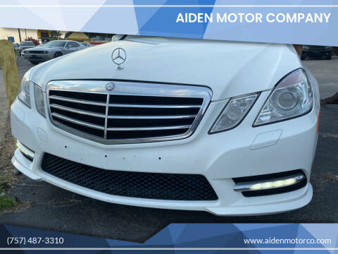 2013 Mercedes-Benz E-Class for sale at Aiden Motor Company in Portsmouth VA