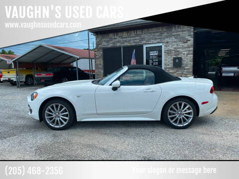 2018 FIAT 124 Spider for sale at VAUGHN'S USED CARS in Guin AL