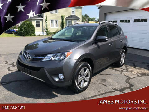2015 Toyota RAV4 for sale at James Motors Inc. in East Longmeadow MA