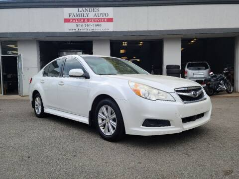 2011 Subaru Legacy for sale at Landes Family Auto Sales in Attleboro MA