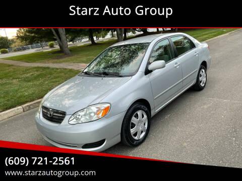 2008 Toyota Corolla for sale at Starz Auto Group in Delran NJ