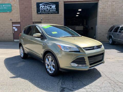 2013 Ford Escape for sale at Ric's Auto Sales in Billerica MA