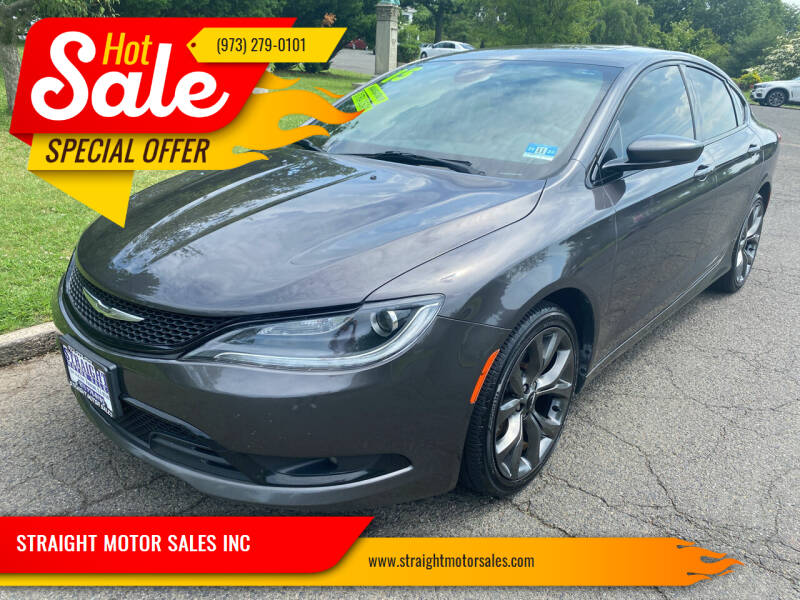 2015 Chrysler 200 for sale at STRAIGHT MOTOR SALES INC in Paterson NJ