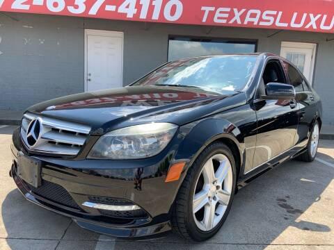 2011 Mercedes-Benz C-Class for sale at Texas Luxury Auto in Cedar Hill TX