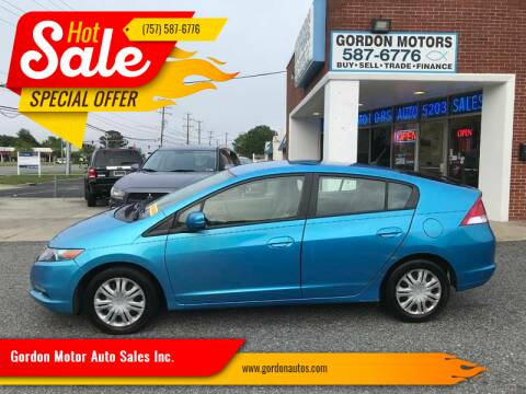 2010 Honda Insight for sale at Gordon Motor Auto Sales Inc. in Norfolk VA