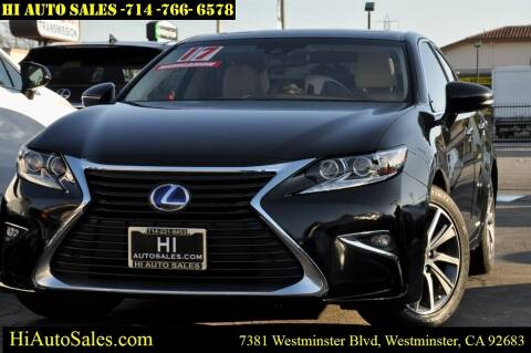 2017 Lexus ES 300h for sale at Hi Auto Sales in Westminster CA