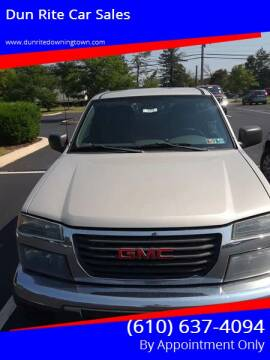 2004 GMC Canyon for sale at Dun Rite Car Sales in Downingtown PA