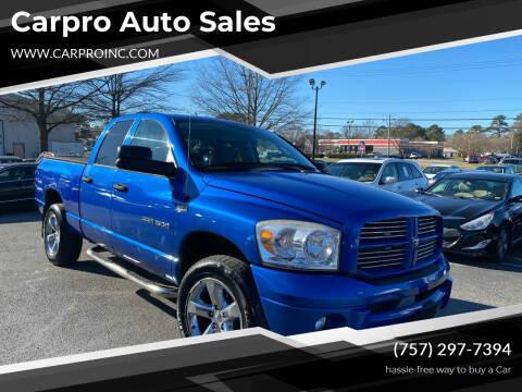 2007 Dodge Ram Pickup 1500 for sale at Carpro Auto Sales in Chesapeake VA
