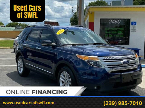 2012 Ford Explorer for sale at Used Cars of SWFL in Fort Myers FL
